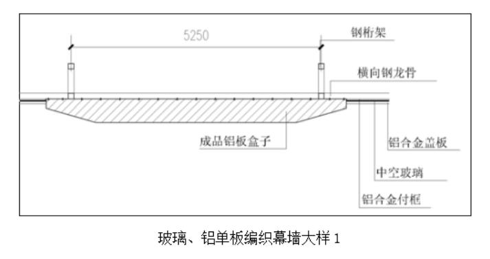 建筑工程大型车站玻璃、铝单板编织幕墙施工工法