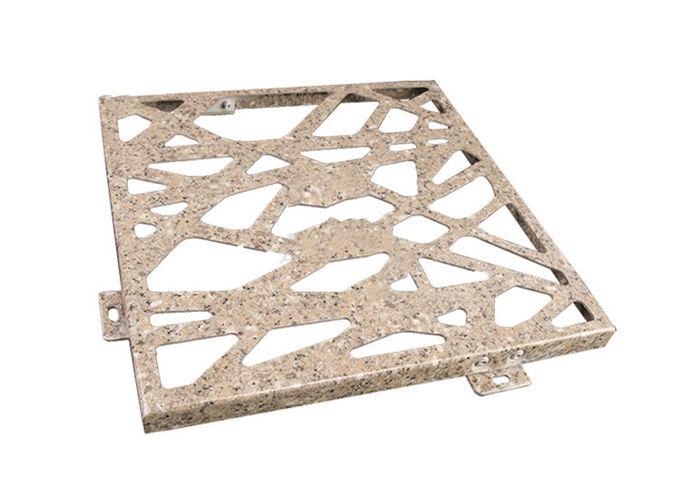 雕花穿孔铝单板,结构化装饰金属墙