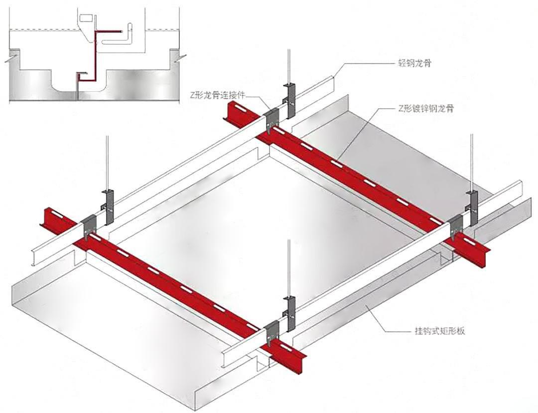 铝单板吊顶天花的安装方法以及安装时的注意事项二