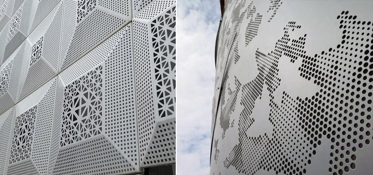 用于幕墙的穿孔铝单板,建筑美学