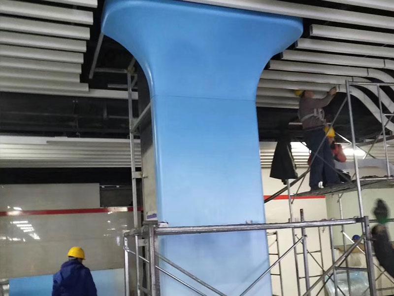 室内室外圆柱包柱铝单板