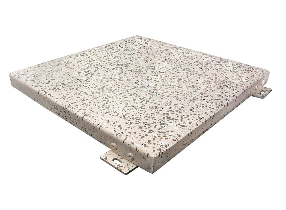 一种立体氟碳仿真石漆氟碳铝单板制造工艺及其铝单板-具体实施方式