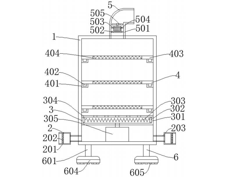 用于氟碳铝单板制造的烘干装置-具体实施方式